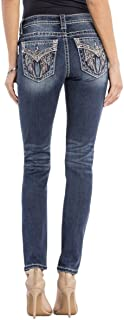Cherish The Moment Angel Wings Embellished Skinny Jeans M3040S Extended Size 32 33 34