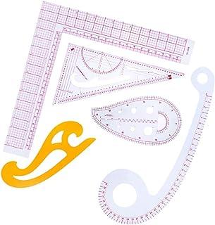 D DOLITY 5ピース/セット 縫製定規 フレンチカーブルーラー 多機能 ドローイング テンプレート 全2タイプ - セット2