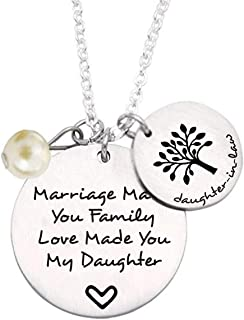 liduola Daughter in Law Gift Marriage Made You Family Love Made You My Daughter Family Tree Pendant Necklace Wedding Gifts Daughter in Law Gifts from Mother in Law