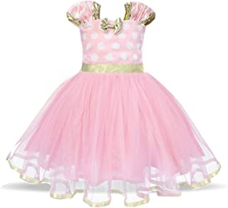 Baby Girl Carnival Dress Children Party Tulle Polka Dot Dress Kids Cosplay Pageant Fancy Costume Mouse Ears Headband