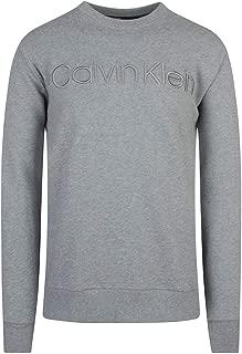 Calvin Klein Men's Crew Neck Embroidered Logo Sweatshirt Grey