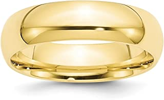 ICE CARATS 10kt Yellow Gold 6mm Standard Comfort Fit Wedding Ring Band Size 7 Classic Cf Style Mm B Width Fine Jewelry Ide...