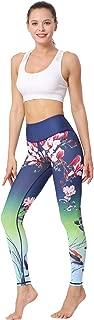 MUMUWU Women Yoga Pants - High Waist Printed Workout Leggings Tummy Control Activewear