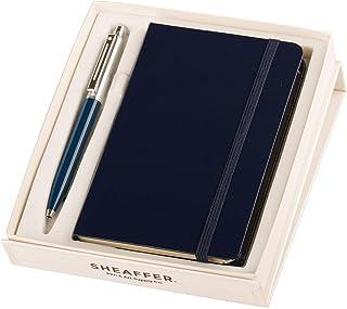 Sheaffer Blue Ballpoint Pen with A6 Notebook