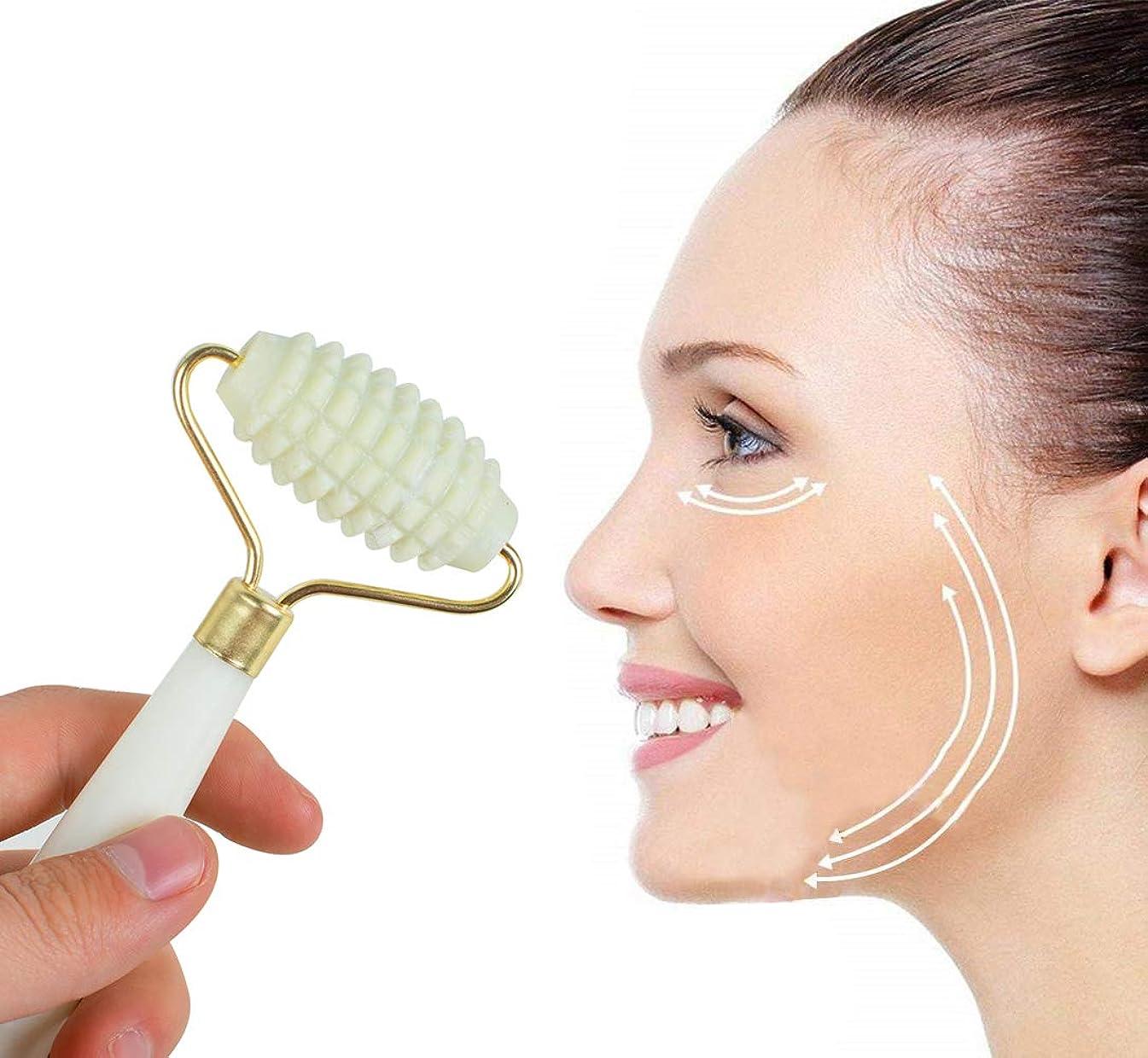 アクセント感嘆天才Fairmall 天然石 美顔ローラー フェイスローラー マッサージローラー 美顔器具 しわと腫れ解消 新陳代謝を促進する 筋肉緩和 天然玉の材質 フェイスケア