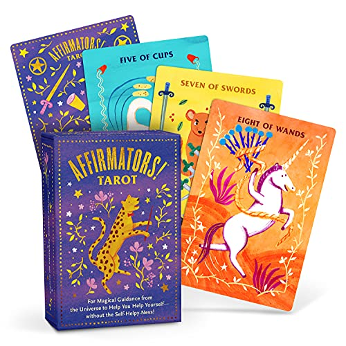 Affirmators! Tarot Cards Deck - Daily Tarot Cards with Positive Affirmations For Magical Guidance from the Universe to Help You Help Yourself without the Self-Helpy-Ness