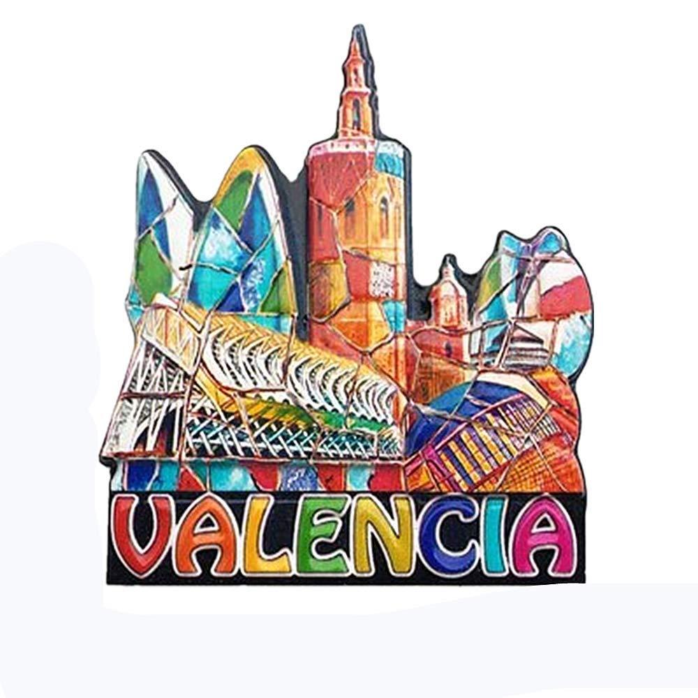 MUYU Magnet Valencia España 3D imán de Nevera de Viaje Souvenir Regalo, hogar y Cocina decoración magnético calcomanía Valencia imán Collection: Amazon.es: Hogar