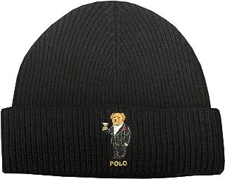Mens Teddy Bear Winter Knit Hat Skull Cap