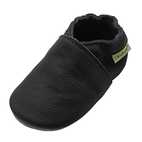 4045d123485a Sayoyo Baby Soft Sole Prewalkers Baby Toddler Shoes Leather Infant Shoes  Dark Grey