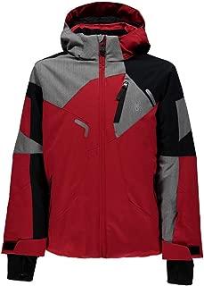 Spyder Kids Boy's Leader Jacket (Big Kids) Red/Black/Polar Herringbone 12 Big Kids