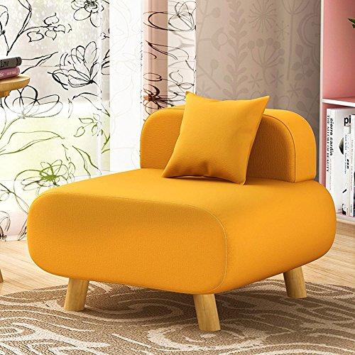 Salle de séjour créative Chambre arrière Coussin Canapé parfumé Canapé chaise Simple petit canapé (Couleur : Le jaune)