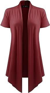 A.F.Y Women's Short Sleeve Open Front Drape Cardigan