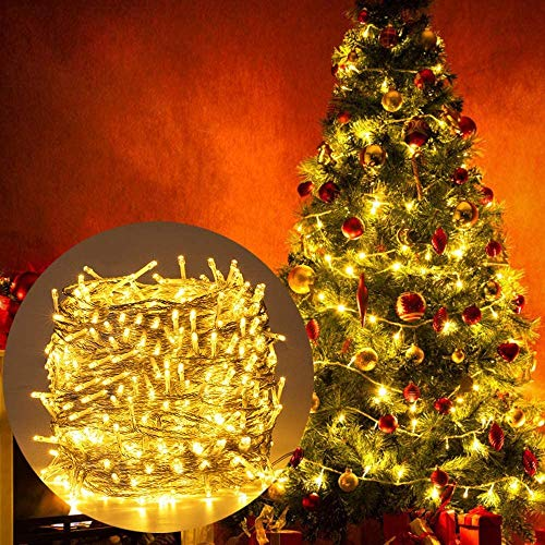 200 LED Lichterkette Innen Warmweiß für Weihnachtsbaum Weihnachten Innen Zimmer 8 Funktiontyp-Memory-Verlaengerbar Weihnachtsbeleuchtung