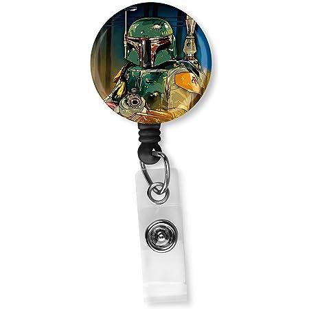 Retractable ID Badge Holder Nurse Badge RN Badge Reels Pediatric Darth Vader Inspired Badge Clip Nurse Badge Reel Name Badge Holder