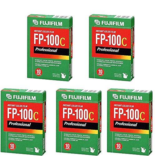 富士胶片富士FP-100C即时彩色10曝光- 5包装