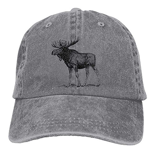 Men Women Classic Denim Moose Adjustable Baseball Cap Dad Hat Low Profile Perfect for Outdoor,Snapback Hats Women Men Adjustable Baseball Cap Hats