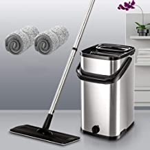 Floor Mop Hand-Free Household Cleaning One Dry Wet and Dry Microfibre Flat Mop for Cleaning Home/Kitchen and Floor