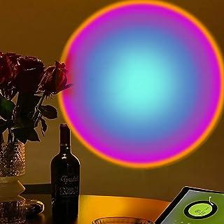 Czemo Lampe Coucher de Soleil, Sunset Lamp, LED Sunset Projection Lamp Rainbow Lampe, 180 °Rotation Lumiere Coucher de Sol...