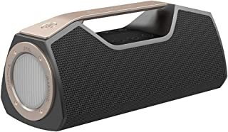 Wharfedale Portable Bluetooth Speaker with 25W Stereo Sound, Rich Bass, IPX7 Waterproof, Power Bank, Multi-Function LED Light, Built-in DSP, Type-C USB Charging, Speaker for Home, Outdoors -Black