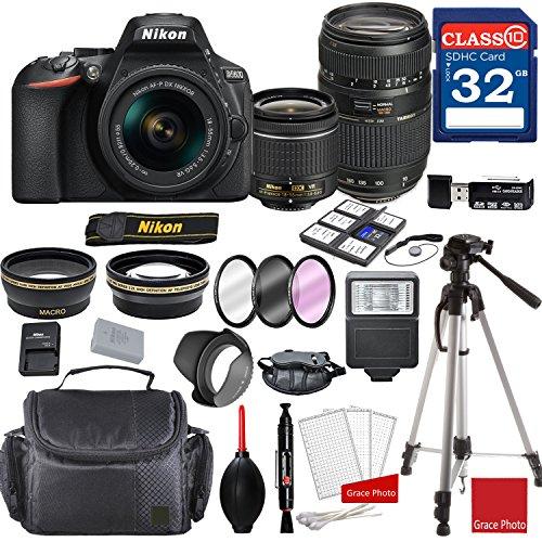 Nikon D5600 DX-Format Digital SLR w/AF-P DX NIKKOR 18-55mm f/3.5-5.6G VR Lens & Tamron 70-300mm f/4-5.6 Di LD Macro Autofocus Lens + Professional Accessory Bundle
