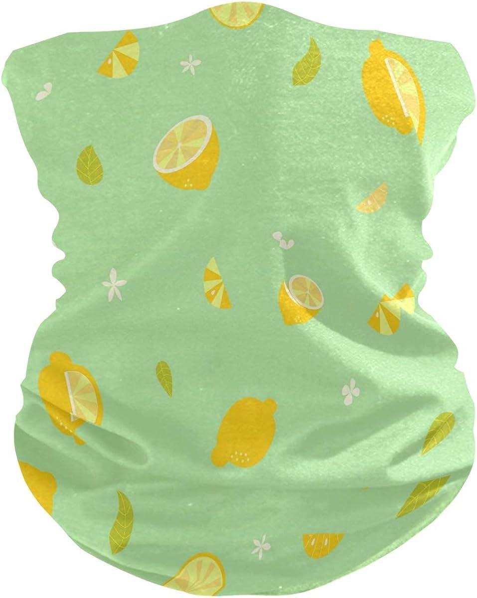 Bandana Lemon Face Scarf Neck Gaiter Headwear Headband for Cycling Fishing Hiking Camping