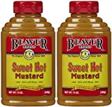 Beaver Brand Sweet Hot Mustard, 13 oz Squeezable Bottles, 2 pk