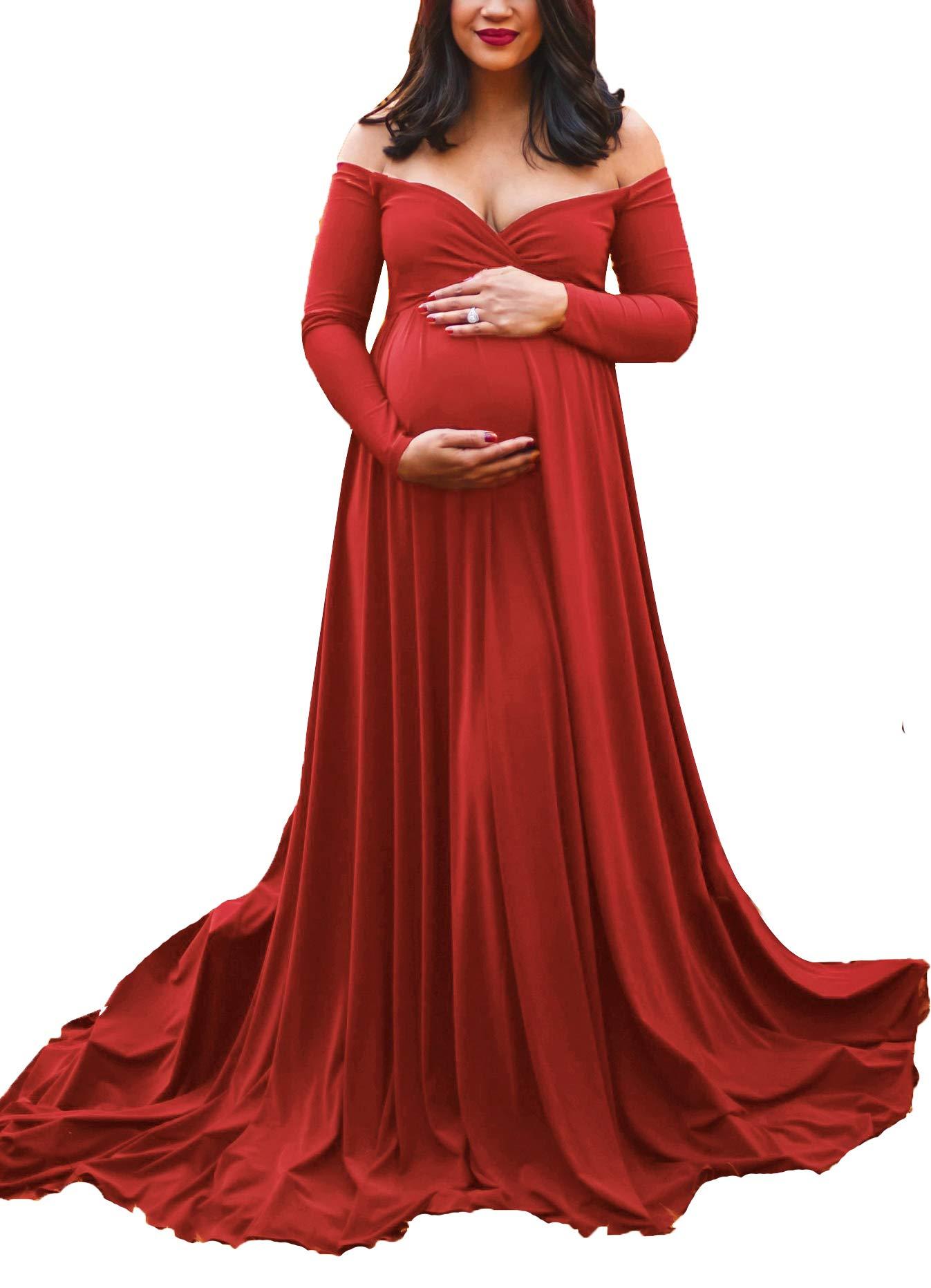 Red Dress - Women Sequin Bridesmaid Dress Sleeveless Maxi Evening Prom Dresses