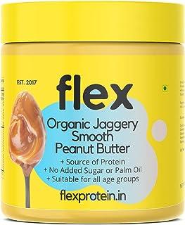 Flex Protein Premium High Protein Organic Jaggery Smooth Peanut Butter (Stone Ground) (Organic Jaggery Smooth, 1 KG)