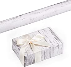 RUSPEPA Gift Wrapping Paper Roll - White Woodgrain Design for Wedding,Birthday, Shower, Congrats, and Holiday Gifts-30Inch X 32.8Feet