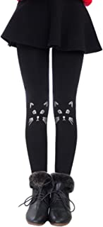 Govc Girls Winter Warm Fleece Lined Elastic Waist Velvet Stretchy Thick Leggings