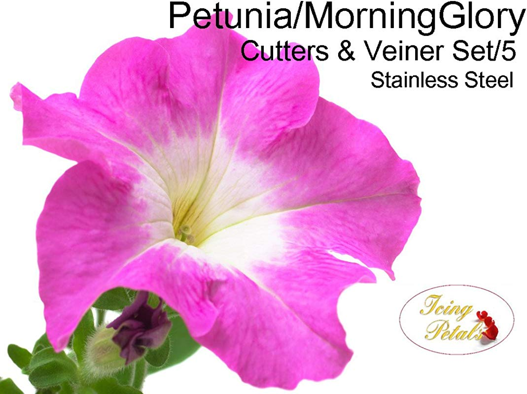 Petunia Morning Glory Petal Cutters Veiner Set 5 By Icing Petals
