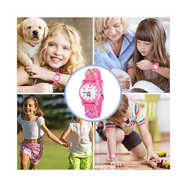 B-hero Watch for Kids, Water Resistant Kids Watch with 3D Cartoon Design for Girl and Boy Gift Case Included
