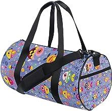 FANTAZIO Gym Duffel Bag Vispatroon Mens Gym Duffel Bag