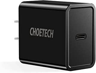 CHOETECH USB C Charger, 18W Power Delivery Type-C Wall Charger Compatible with iPad Pro, iPhone XR, XS, Max, X,8, Plus, Samsung Galaxy S9/Note 9, Google Pixel 3/Pixel 2, Nintendo Switch, Nexus 5X/6P