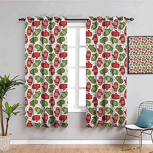 ILMF Cortinas para niños simples y lindas frescas de 92 x 198 pulgadas, impresión digital 3D, aislamiento térmico, cortinas opacas para tratamiento de ventanas con ojales, para niños, dos paneles