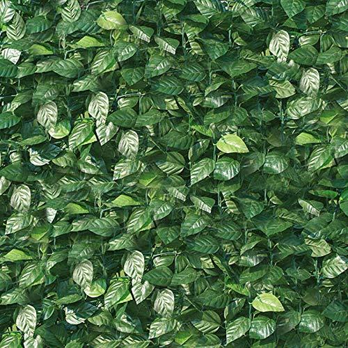 ranieri Arella Siepe Sintetica Artificiale 100x300 cm in PVC Ombreggiante Foglie di Lauro
