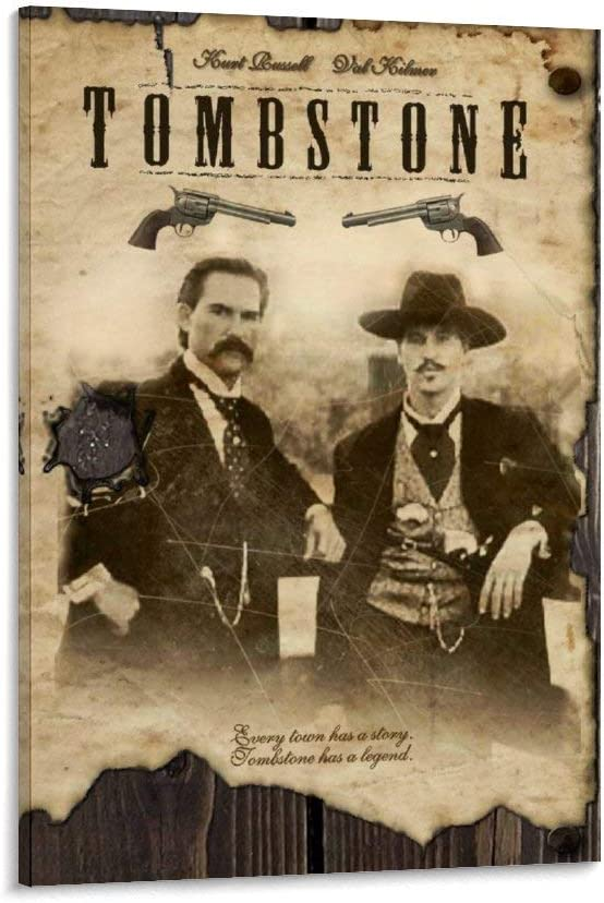 great Tombstone Movie Val Kilmer Kurt Russell Mail order cheap Poster Decorative Max 90% OFF