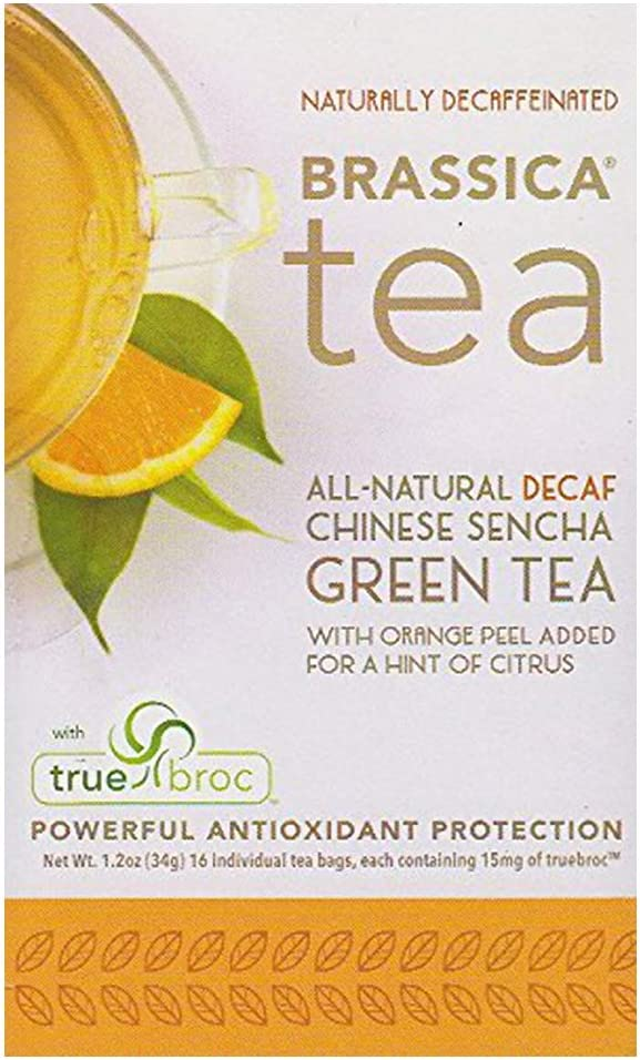 Brassica Indianapolis Mall Decaffeinated Green Tea with Max 66% OFF 16 Orange Trubroc Decaf