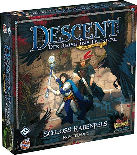 Asmodee HEI0624 - Descent 2. Edition, Schloss Rabenfels - Erweiterung
