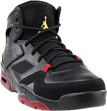 Jordan 555475-067: Mens Flight Club 91 Black Dandelion Varsity Red Sneakers (10 D(M) US Men)