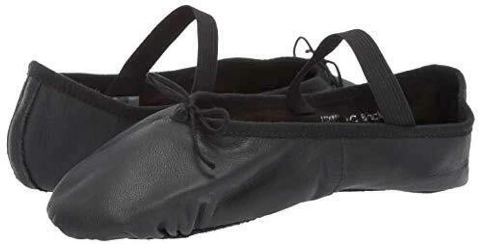 ベンチャー完全に乾くジャングルKids Leo Girls Ballet Russe Leather Low Top Slip On Dance Shoes [並行輸入品]