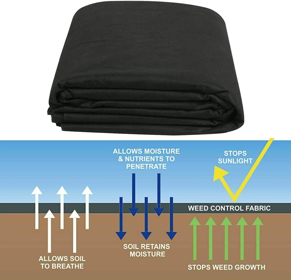 Eco-Friendly Convenient Design Easy Setup Superior Weed Control CALIDAKA Garden Weed Barrier Landscape Fabric Durable and Heavy-Duty Weed Block Gardening Mat