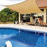 TALITARE Sun Shade Sail Rectangle, 6' x 8'Canopy Sand Cover for Patio Outdoor Backyard UV Block Shade Sail for Garden Playground