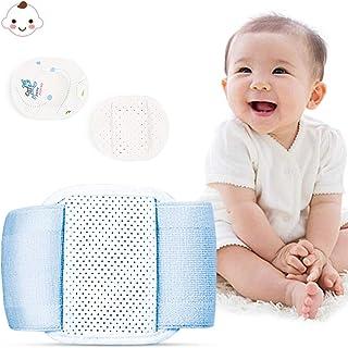 کمربند فتق نافی Vivtone ، صحافی شکم نوزاد شیر مادر ، کمربند شکمی قابل پشتیبانی از خرپای نوزاد دارای ناف و 3 عدد پد فشرده سازی