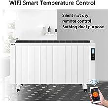 2500W Calentador de cama plana Wi-Fi inteligente de control de temperatura de vuelco y protección contra sobrecalentamiento de control remoto Convector Chimenea Ventilador pared más cálido,2500w