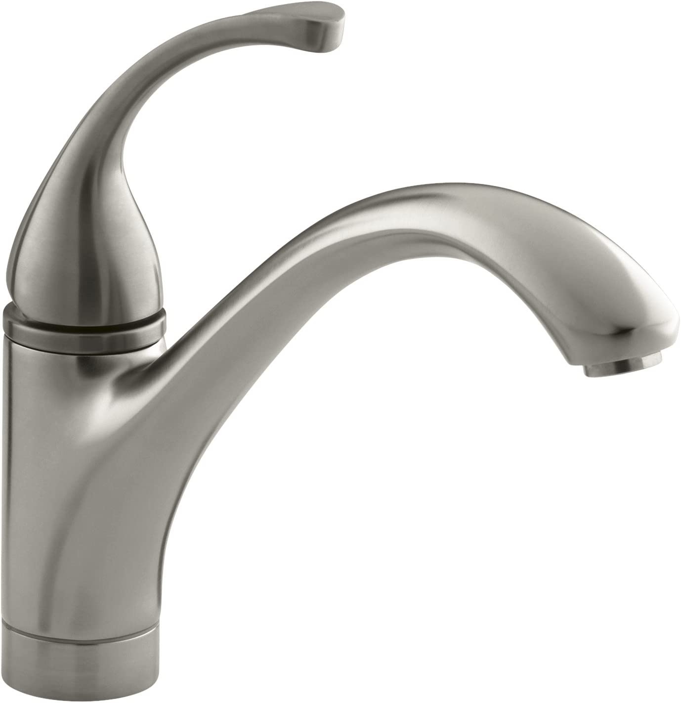 KOHLER Forte Single-Handle Pull-Out Sprayer Kitchen Faucet In Brushed Chrome