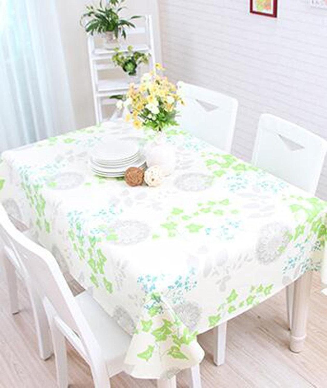 DZW Nappe ImperméAble à L'Eau Rectangle Floral Pastoral Tapis De Table éTanche Et ImperméAble à L'Eau Appliquer à Table à Manger Table Basse , 137220cm , C,Rentable