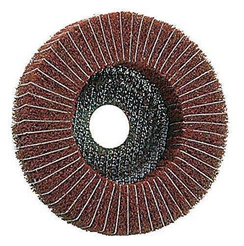 Kombi-Polierscheibe 125 x 22,2 Vlies/Leinen , 3 Körnungen , für Metall , Vliesscheibe, Schleifscheibe (Korn fein)