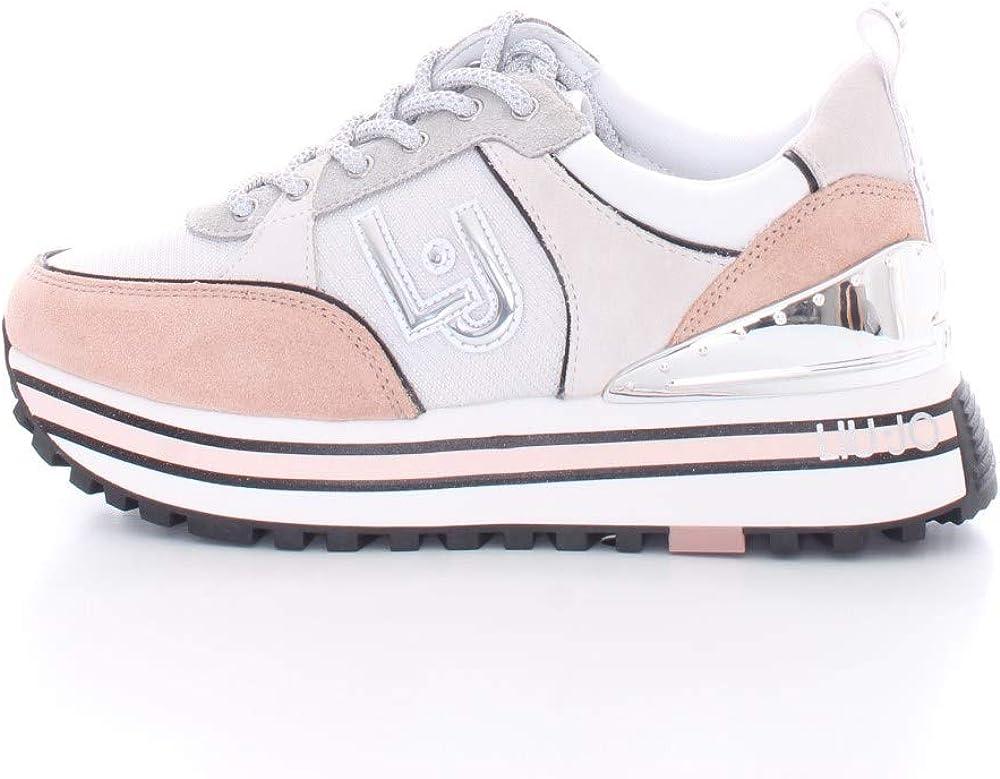 Liu jo jeans,scarpe da ginnastica,sneakers per donna,in pelle/ tessuto DS21LJ03_35