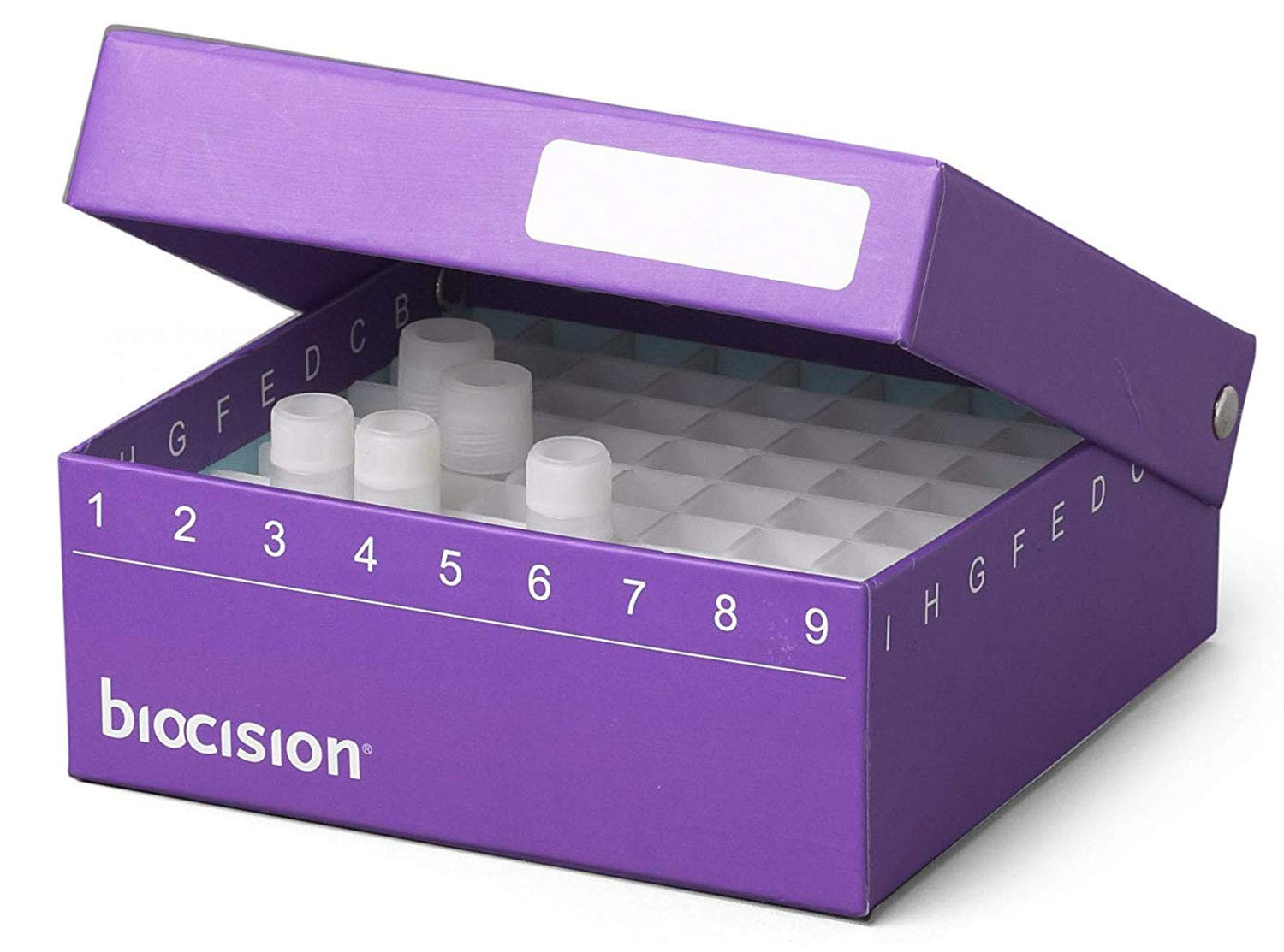 Biocision Hinged CryoBox Challenge Max 89% OFF the lowest price of Japan Purple 5PK 81-Place